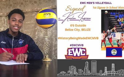 EDWARD WATERS MEN'S VOLLEYBALL MAKE HISTORY WITH SIGNING OF FIRST RECRUIT